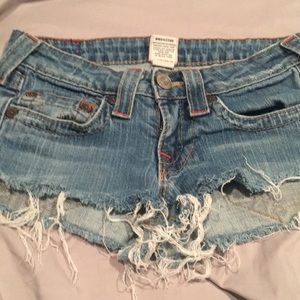 True Religion Super Short Shorts, size 26